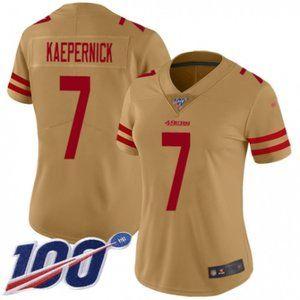 Women 49ers Colin Kaepernick 100th Season Jersey